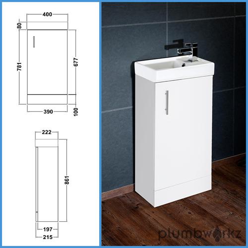 Bathroom Floor Standing Vanity Units : Compact bathroom vanity unit basin sink mm