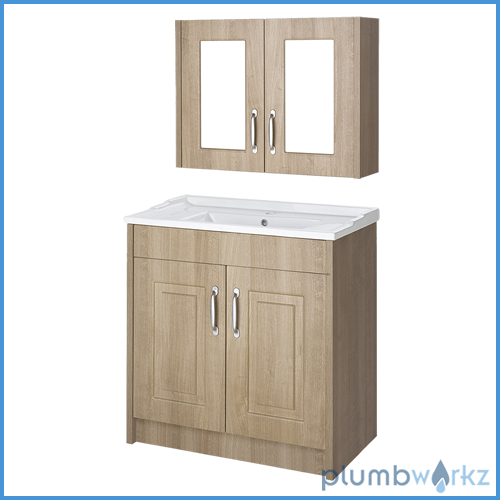 Traditional bathroom cabinet basin vanity unit cabinet for Bathroom cabinets 800mm high
