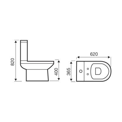Revive Modern Close Coupled Toilet & Seat