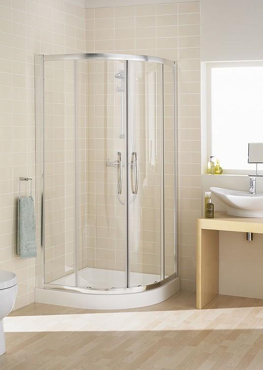 Lakes 900 X 900mm Single Rail Quadrant Shower Enclosure Plumbworkz