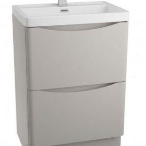 Bali Grey Free Standing Vanity Unit Cabinet 600M