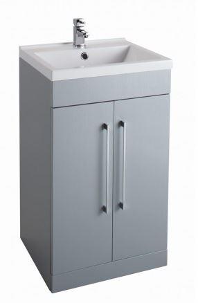 500MM Urban Cube Grey Unit And Basin