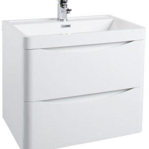 600MM Bali White Gloss Wall Mounted Cabinet
