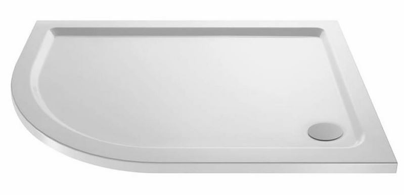 Low Profile 40mm Offset Quadrant Shower Tray 1200 x 800mm