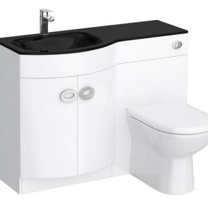 D Shape Bathroom Furniture With Toilet