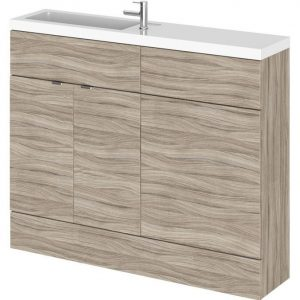 1100x255mm Hudson Reed Driftwood Combination Furniture Vanity Unit