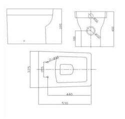 1100MM L Shape Oak Vanity And WC Unit With SquareToilet