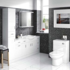 550MM White Vanity, 500MM WC And 300MM Draw Units