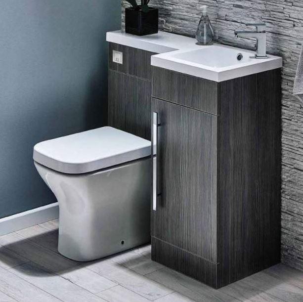 Grey Bathroom Furniture with Cubic BTW