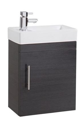 Black Ash Wall Hung Vanity Unit
