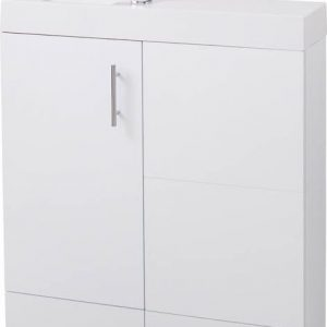 800MM Gloss White Cube Plus Combo Unit