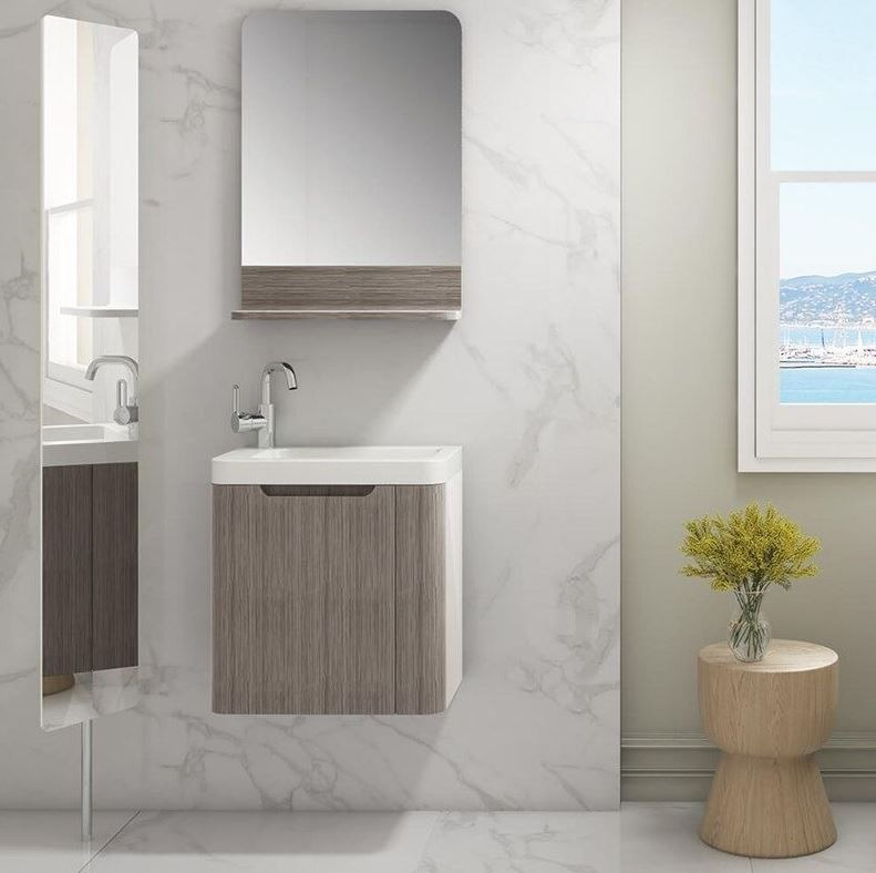 450MM Cashmere White Vanity Unit And Basin