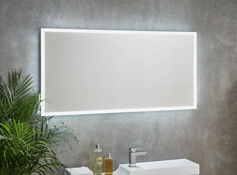 Mosca Led Mirror 1200 X 600 With Demister Pad Amp Shaver