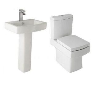 Modern Square Embrace Toilet & Basin Set