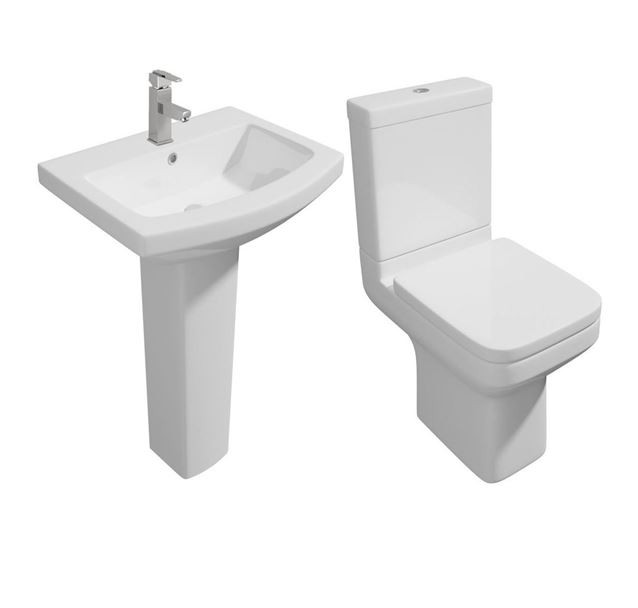 Trim Modern 4 Piece Toilet & Basin Set