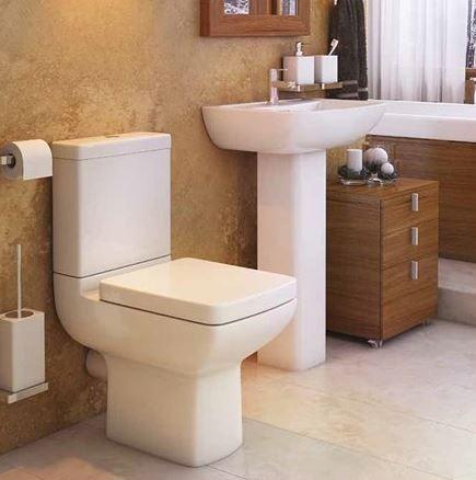 Pure Modern 4 Piece Toilet & Basin Set