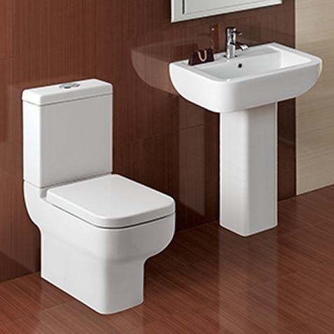 Options 600 Modern 4 Piece Toilet & Basin Set