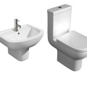 Studio Modern 4 Piece Toilet & Semi Pedestal Basin Set