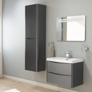 Matt Black Bali Modern Bathroom Suite