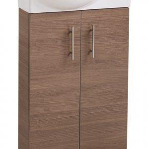 Oak Double Door 500mm Vanity Unit with Basin