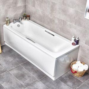 Alpha 1675 - 1700mm Gripped Bath