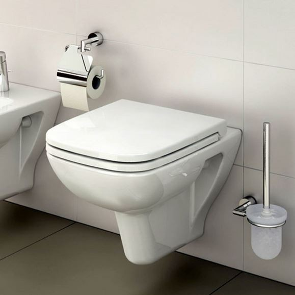 Vitra S20 Model Wall Hung Toilet Pan With Soft Close Seat