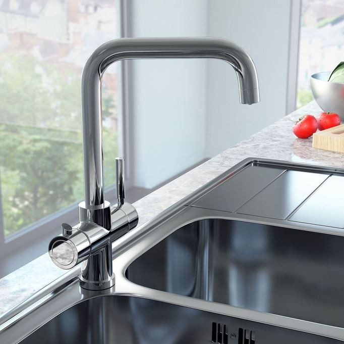 Cali Instant Boiling Water Kitchen Tap with Boiler and Carbon Filter