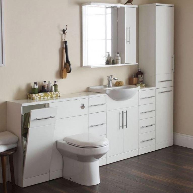 Impakt 650MM Gloss White Vanity Unit And Basin