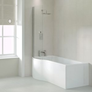 P Shape Shower Baths
