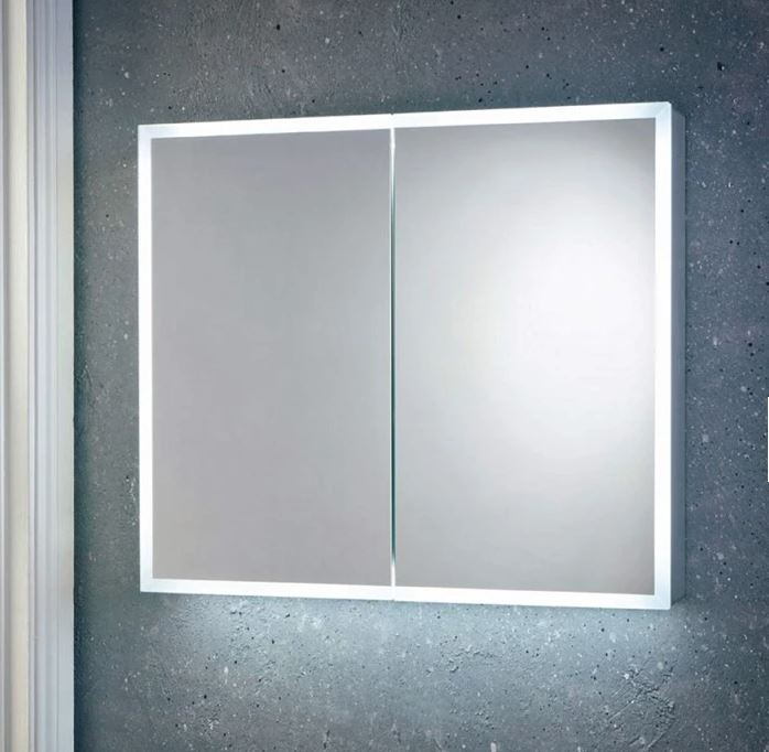 800mm Mia Led Double Door Mirror Cabinet With Demister